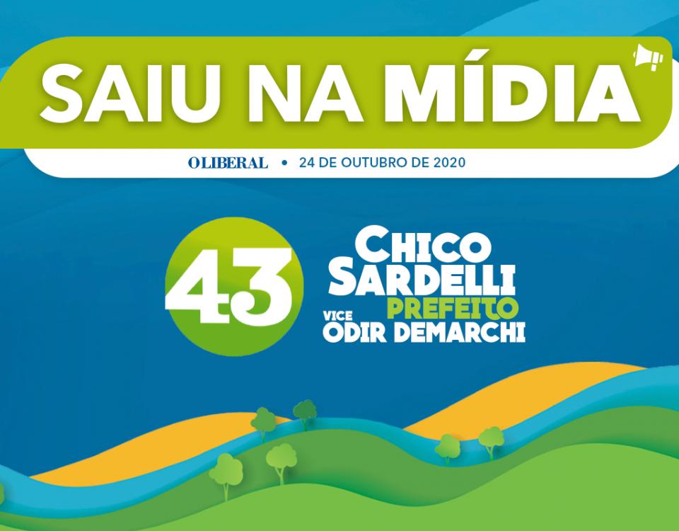 O candidato a prefeito de Americana Chico Sardelli (PV) divulgou nesta sexta que contratou uma equipe de limpeza para recolher santinhos e outros materiais de sua campanha pelas ruas.