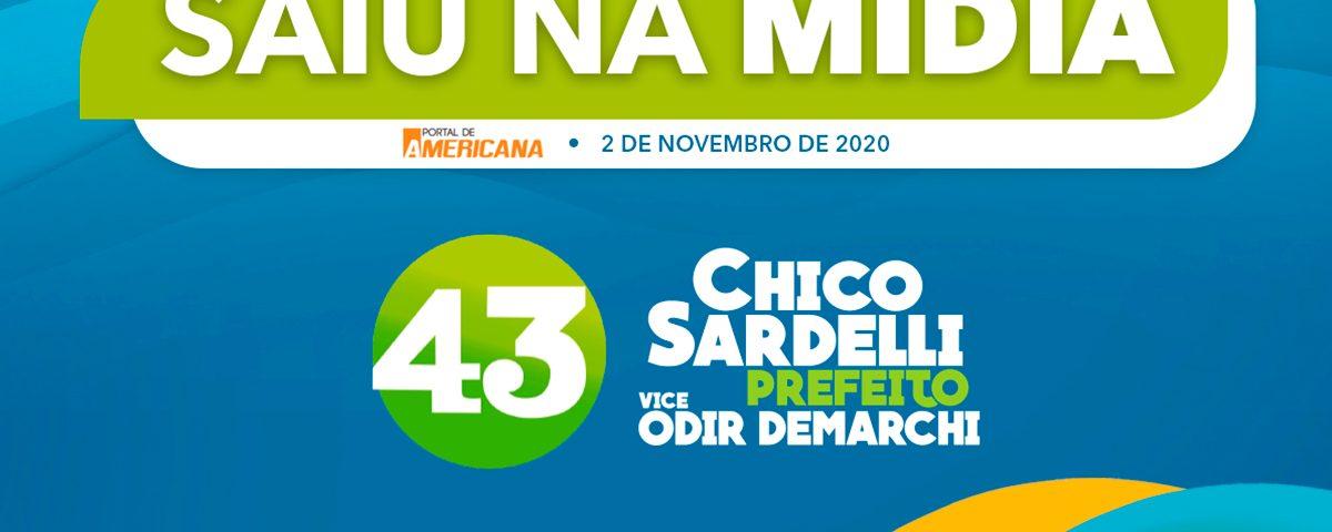 pesquisa mostra liderança de votos de chico sardelli